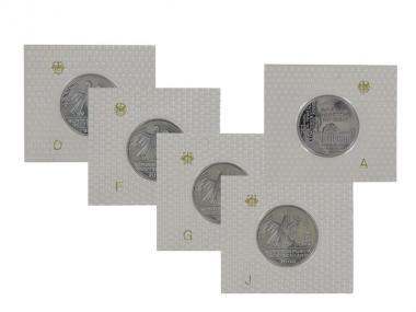 10 J. Deutsche Einheit 2000 (5), 10 DM Silber, PP Folie kpl.