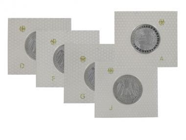 50 J. Bundesverfassungsgeri 2001 (5), 10 DM Silber, PP Folie kpl.