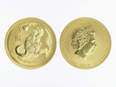 Australien 100 $ Lunar II  Affe, 1 Unze  2016