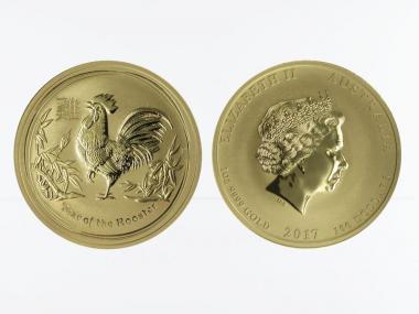 Australien 100 $ Lunar II  Hahn, 1 Unze  2017