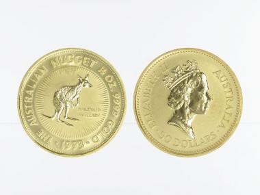 Australien 50 $ Nugget Känguru, 1/2 Unze  1993