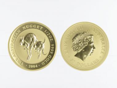 Australien 50 $ Nugget Känguru, 1/2 Unze  2004