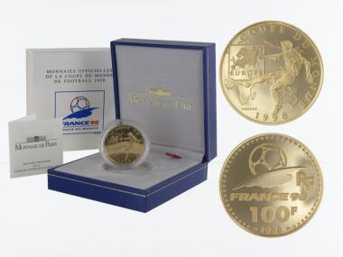 Frankreich 100 Fr Fußball-WM 1998, Europa, 1997