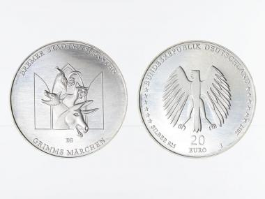 20 € Grimms Märchen Bremer Stadtmusikanten  Silber 2017
