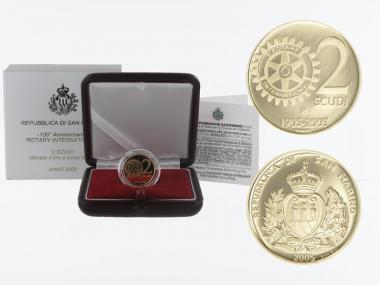 San Marino 2 Scudi Rotary 2005, proof