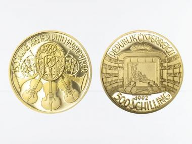 Österreich 500 Sh. Gold, 1992, Wiener Staatsoper