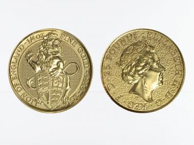 25 £ Queens Beast 2016, Lion of England