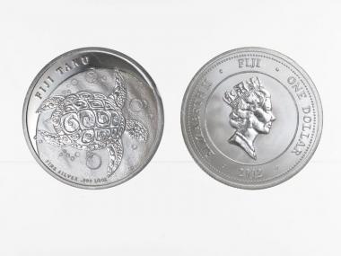 Fiji Taku 1 $  Schilkröte  2012, 1/2 Unze