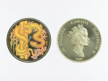 Kanada Schlange (Kinegramm) 150 Dollars 2001,  proof