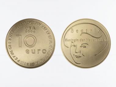 Niederlande 10 Euro Gold, 2004, EU-Erweiterung,