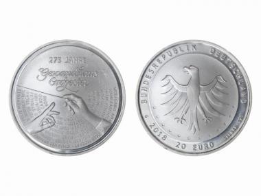 20 € 275 Jahre Gewandhausorchester    Silber 2018