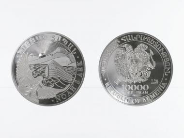 Armenien 10000 D. Arche Noah 2017, 1 Kilo Kg  Silber
