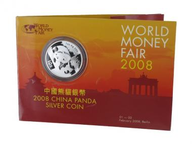 China 10 Yu Panda  2008 WMF,  Blister