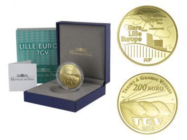 Frankreich 200 Euro Gold, 2010, TGV - Lille