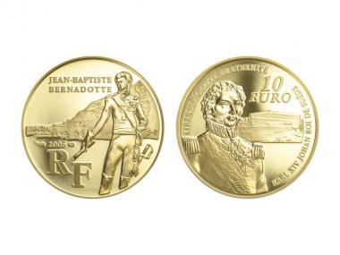 Frankreich 10 Euro Gold, 2006,  Bernadotte