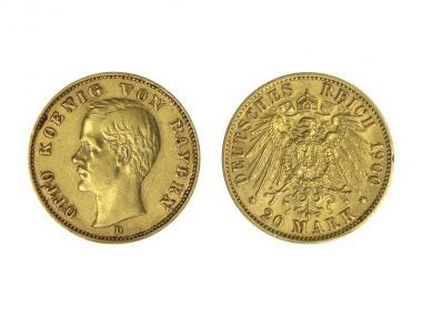 Bayern, 20 Mark Gold, Otto, 1900, J.200
