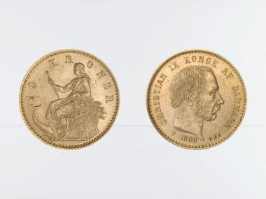 Dänemark Christian IX  1900, 10 Kroner Gold