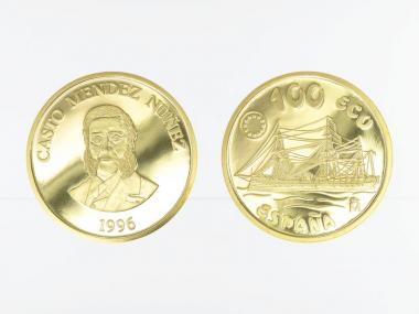 Spanien 100 Ecu Gold, 1996, Spanische Marine