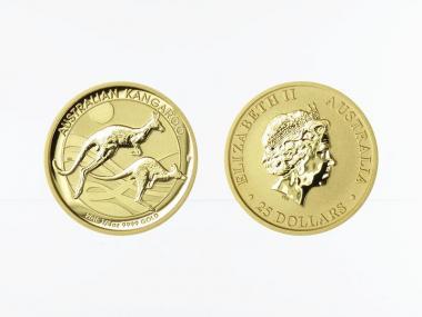 Australien 25 $ Nugget Känguru, 1/4 Unze  2019