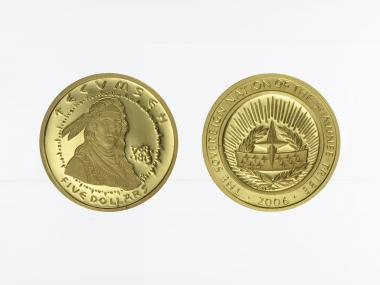 Shawnee Tribal Nation 5 $  Gold, Chief Tecumseh, 2006 PP