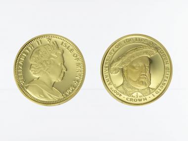 Isle of Man 1/2 Crown Gold, 2003, 400 anniversary