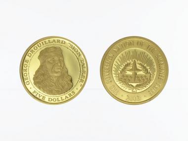 Shawnee Tribal Nation 5 $  Gold, George Drouillard , 2003 PP