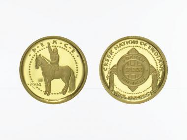 Shawnee Tribal Nation 5 $  Gold, Poarch Creek Indians, 2004 PP