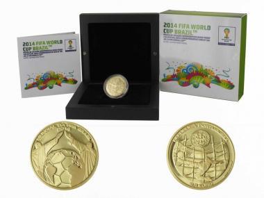 Portugal 2,50 Euro Gold, Fußball WM Brasilien 2014