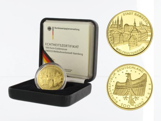 BRD 100 Euro Gold, 2004 F, Bamberg, original