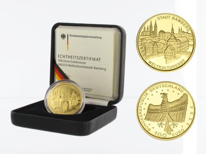 BRD 100 Euro Gold, 2004 J, Bamberg, original