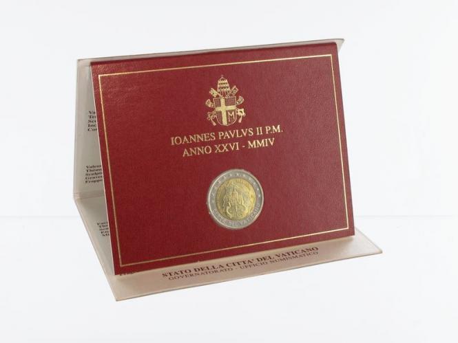 Vatikan Sondermünze, 2004, 2 Euro im Folder