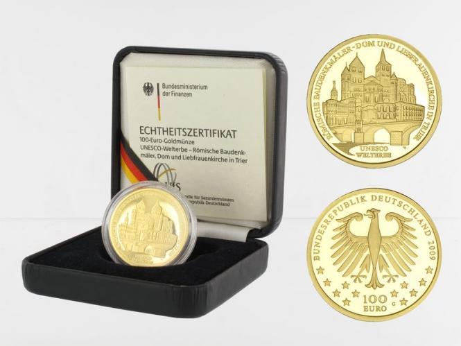 BRD 100 Euro Gold, 2009 D, Trier, original