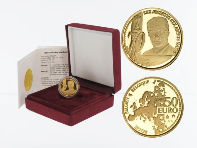 Belgien 50 Euro Gold, Alberts II. 2004, original