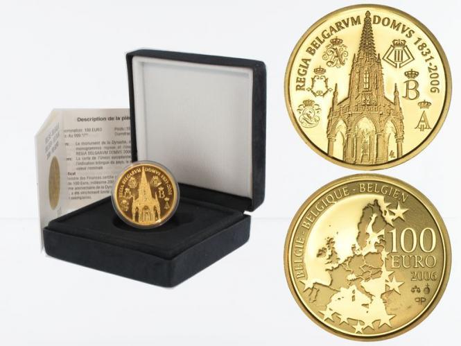 Belgien 100 Euro Gold, 175 Jahre Münzprägung 2006