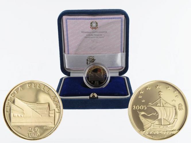 Italien 20 Euro Gold, 2005, Alvar Aalto, original