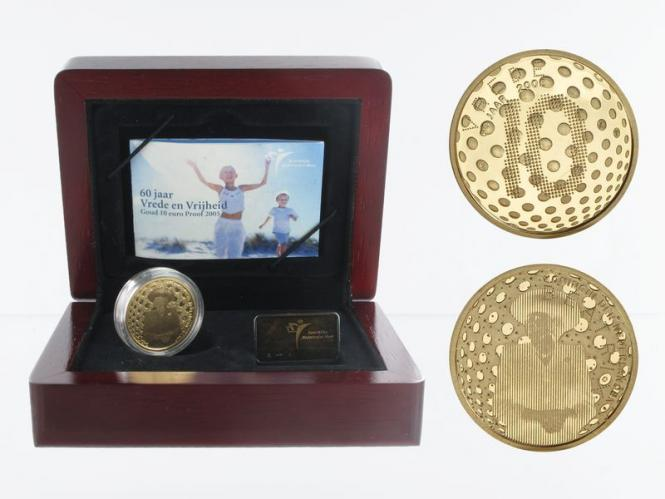 Niederlande 10 Euro Gold, 2005, Frieden + Freiheit,