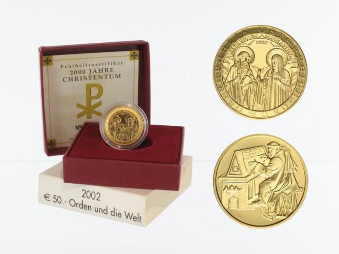 Österreich 50 Euro Gold, 2002, Orden,