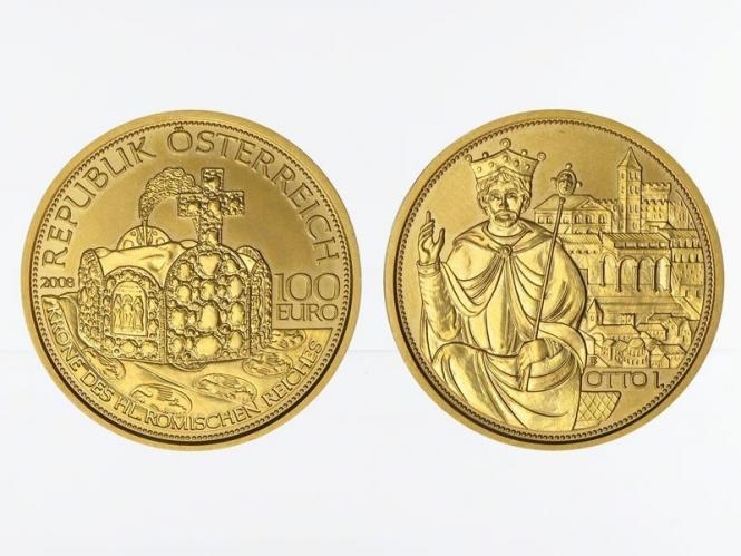 Österreich 100 Euro Gold, 2008, Reichskrone,