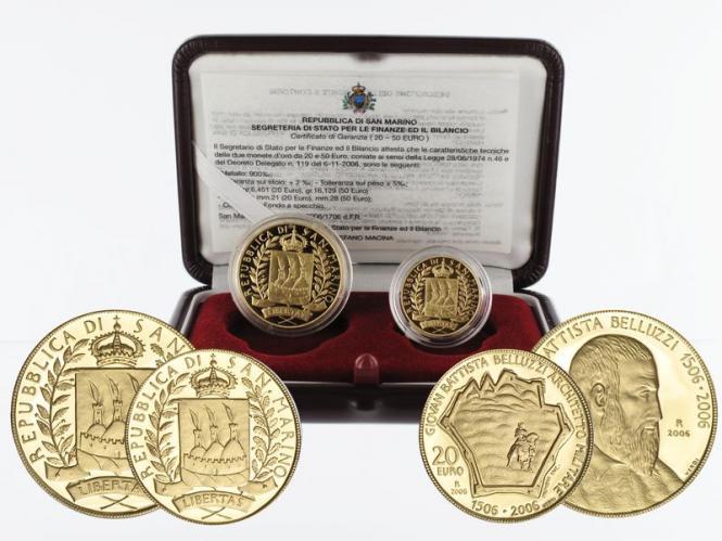 San Marino 20 €+50 € Gold, 2006, Belluzzi original
