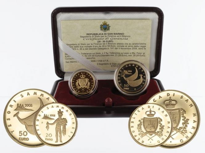San Marino 20 €+50 € Gold, 2008, Civilizations original