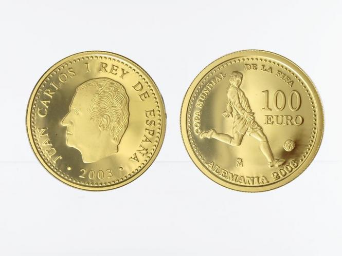 Spanien 100 Euro Gold, 2002, Fußball WM 2006