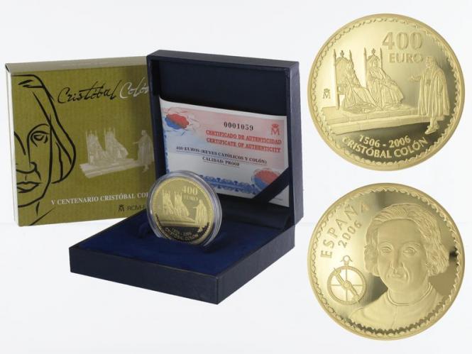 Spanien 400 Euro Gold, 2006, Christoph Kolumbus