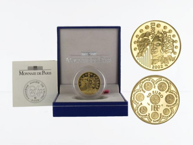 Frankreich 10 Euro Gold, 2002, Europa