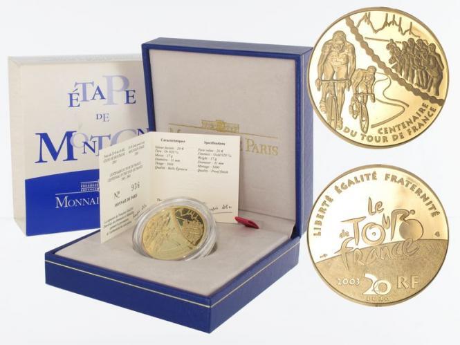 Frankreich 20 Euro Gold, 2003, Bergetappe
