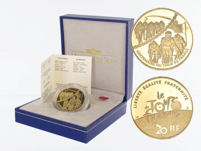 Frankreich 20 Euro Gold, 2003, Sprint