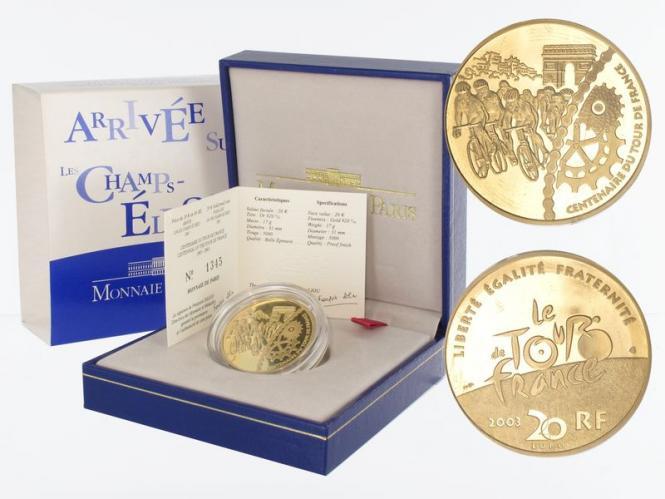 Frankreich 20 Euro Gold, 2003, Zielankunft Paris