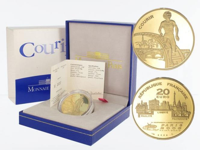 Frankreich 20 Euro Gold, 2003,  Läufer WM 2003
