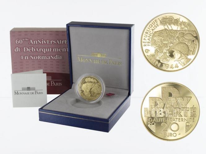Frankreich 20 Euro Gold, 2004,  D-Day Normandie