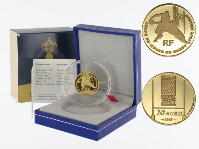Frankreich 10 Euro Gold, 2007, Rugby WM 2007