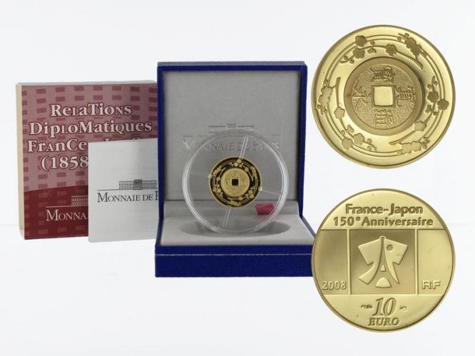 Frankreich 10 Euro Gold, 2008, Kanei-Thuho Münze